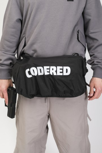 Сумка поясная для баллонов Cans Bag Серая Светлая Теза/Белый принт CODERED