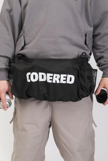 Сумка поясная для баллонов Cans Bag Черная Теза/Белый принт CODERED