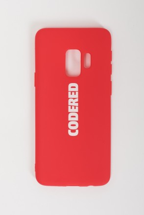 Case for Samsung Galaxy S9 Silicone Red White Logo