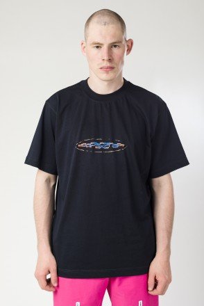 T-Shirt 2000s Action Sport Font Navy