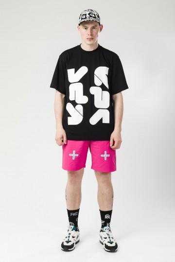 Футболка T-Shirt Vertical Round Corner Abbr Черный