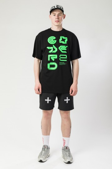 Футболка T+ 2000´s Icons Vertical Font Черный