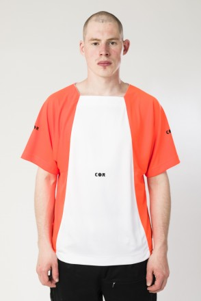 Т2 Air COR T-shirt White/Flur Orange