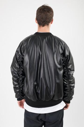 Куртка Bomber Черный Кожзам