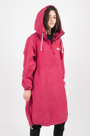 Mob Long Anorak Bordeaux