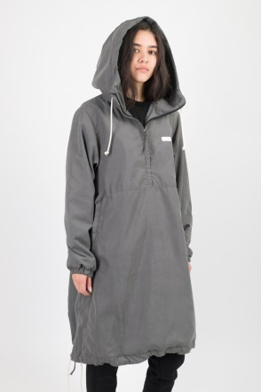 Mob Long Anorak Dark Gray