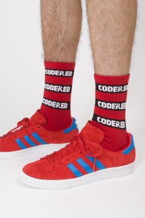 Logo Stripes Socks Red/Black-white Logo
