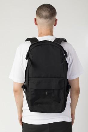 Action Backpack Black Taslan/White Print CR