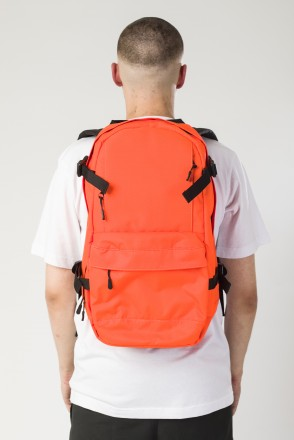 Action Backpack Fluorescent Orange /Black Print CR