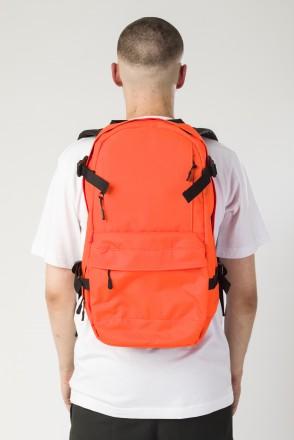 Рюкзак Action Оранжевый Флюр Соты Оксфорд/Черный Принт CR