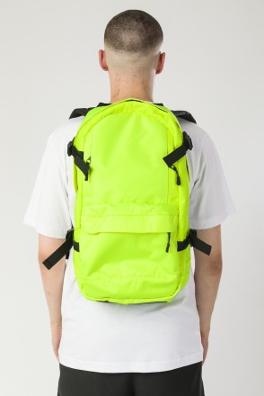 Action Backpack Fluorescent Lemon/Black Print CR