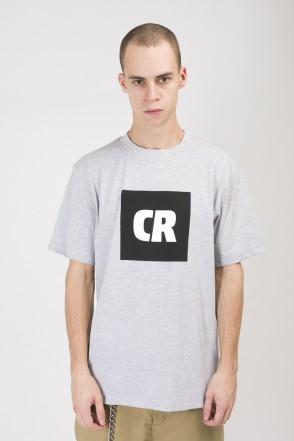 Футболка Regular CR Cube Logo Серый Меланж