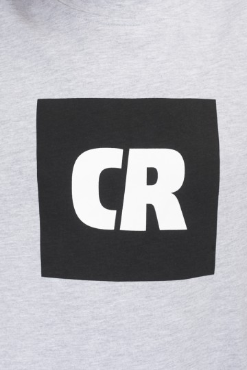 Футболка Regular CR Cube Logo Серый Меланж