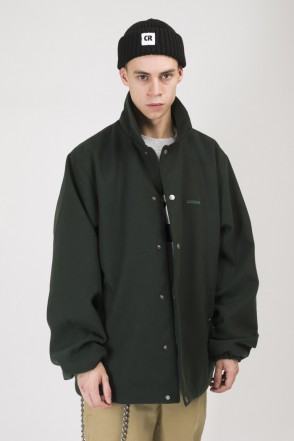 Coated Coach Jacket Dark Green