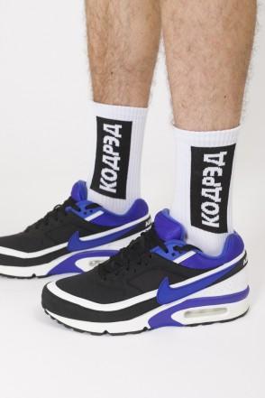 Носки Vertical Cyrillic Socks Белый/Черно-белое лого