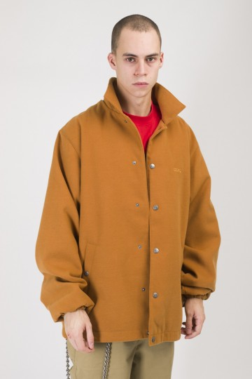 Coated Coach Jacket Red