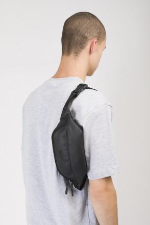 Сумка поясная Hip Bag Черный Кожзам