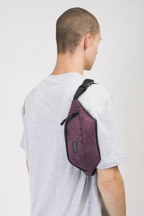 Сумка поясная Hip Bag Фиолетовая иск. Замша
