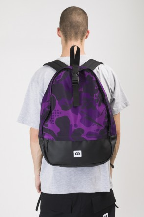 Standart Backpack Violet Camo/Black Leather