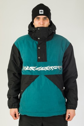 Superblaster 2001 Anorak Black/Sea Green