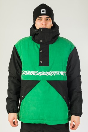 Superblaster 2001 Anorak Black/Bright Green