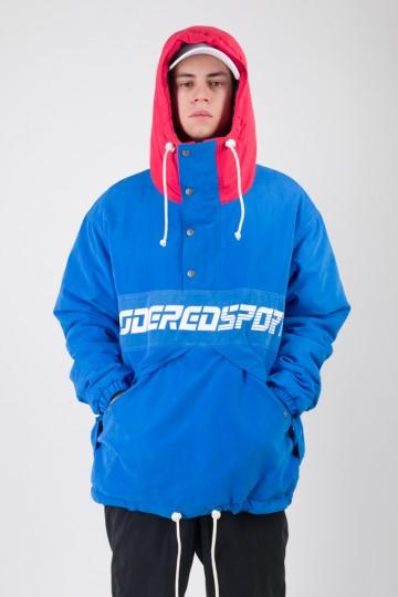 Анорак Superblaster 2 Синий Яркий/Красный Винтаж