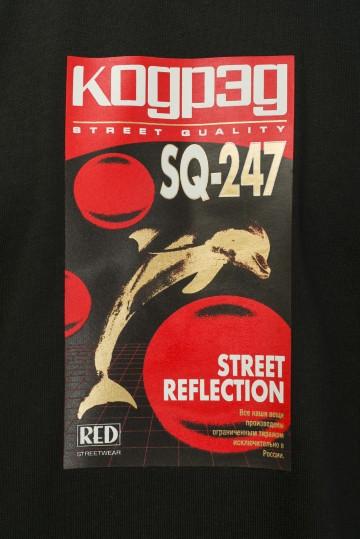 Футболка-лонгслив Wide Sleeve Черный/Принт VHS Dolphin SQ-247