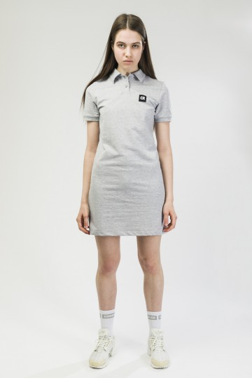 Платье с коротким рукавом Adress Серый Меланж