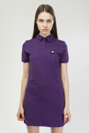 Платье с коротким рукавом Adress Фиолетовый