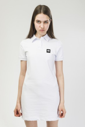 Adress Polo Dress White
