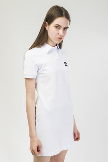 Платье с коротким рукавом Adress Белый
