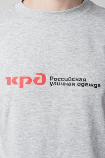 Футболка Regular Russian Roads Серый Меланж