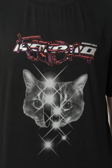 Футболка Regular Magic Cat Черный