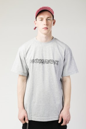 T+ Tear Outline Cyrillic T-shirt Gray Melange