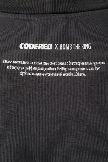 Футболка Regular CODERED x Bomb The Ring Антрацит