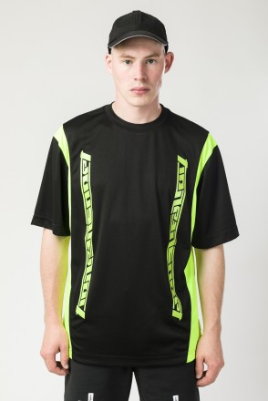 Fast Sports T-shirt Black/Flur Lemon