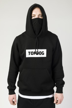 Base Hoodie CODERED x TOP DOG Black Font Box
