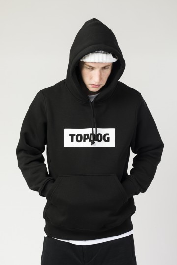 Толстовка Base Hoodie CODERED x TOP DOG Черный Font Box