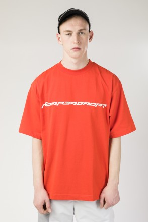 Over T Liquid Rave Font T-shirt Scarlet