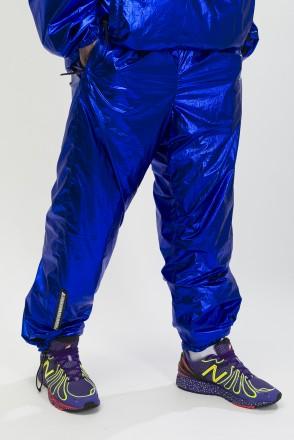 Astral Pants Blue Metallic/Orange Fluorescent