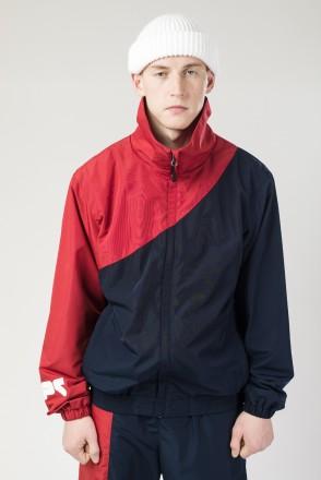 Олимпийка Round Corner Jacket Нэви/Красный Темный