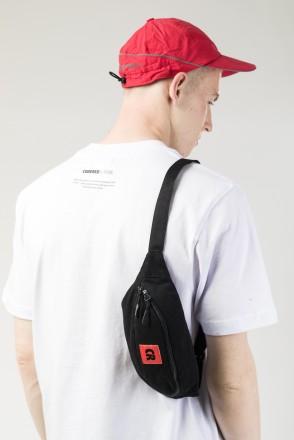 Сумка поясная Hip Bag Черный Деним