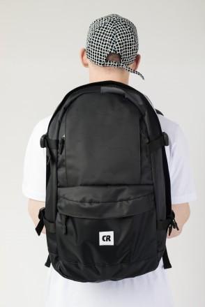 Action 2 Backpack Black Taslan