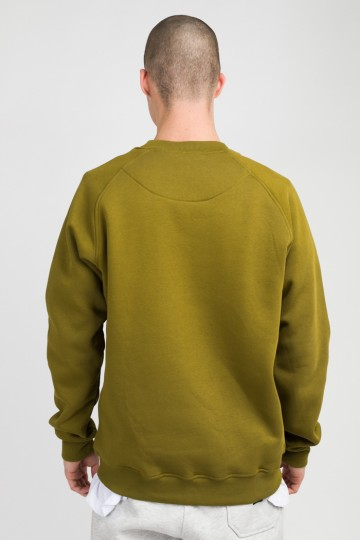 Firm Crew-neck Cyrillic Font Army Green