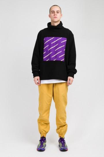 Толстовка из флиса Highneck Черный/Фиолетовый