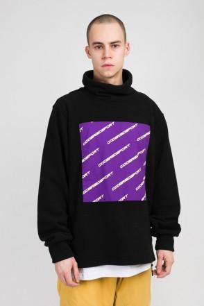 Highneck Fleece Sweatshirt Black/Violet
