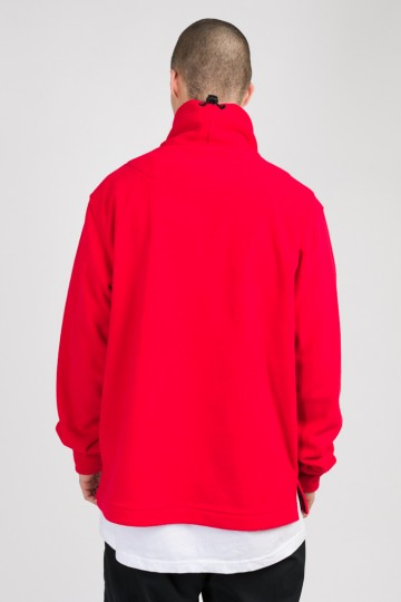 Толстовка из флиса Highneck Красный/Серый Темный