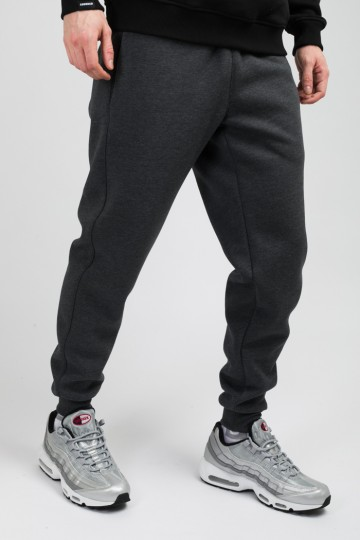 Basic Pants Dark Gray Melange