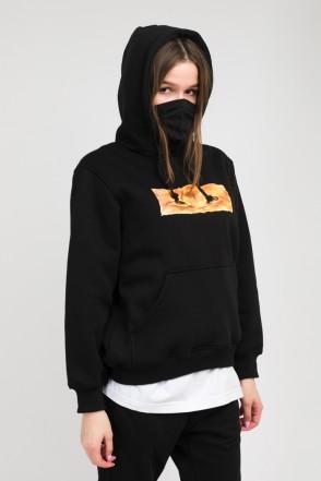 Girl Hoodie Boxcat Black