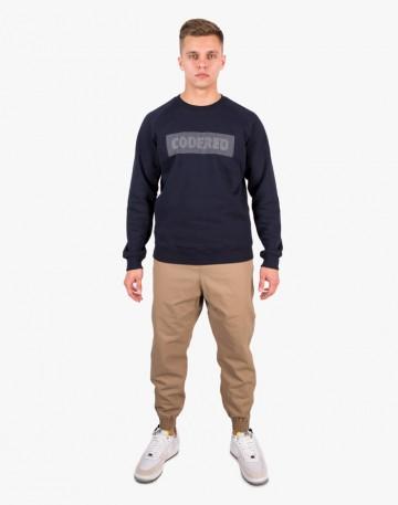Firm Dotted Logo Sweatshirt Ink Blue